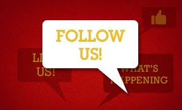 Stay in the know by following us!